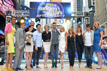 Lara Spencer George Stephanopoulos 'DWTS' Finalists Visit 'GMA'
