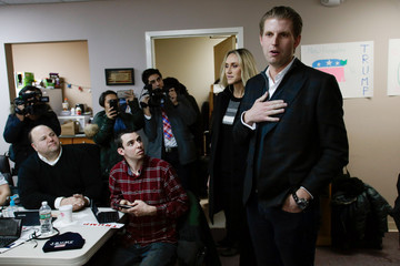Lara Trump Eric Trump Joins Volunteers at Trump NH HQ to Get Out the Vote on Primary Day