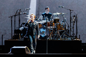 Larry Mullen Jr U2 Performs At BC Place