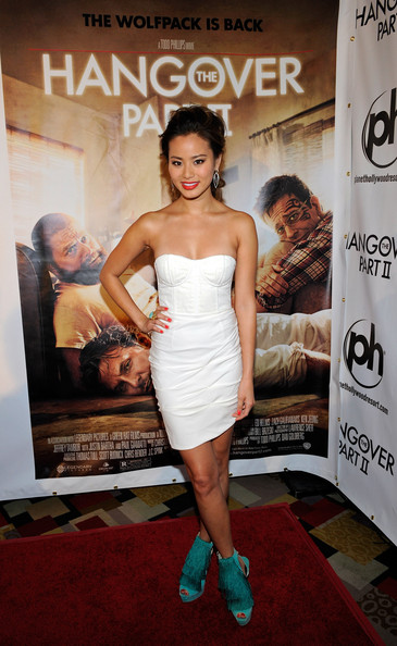 "Actress Jamie Chung arrives at the Las Vegas premiere of the Warner Bros. Pictures movie, ""The Hangover Part II"" at the Planet Hollywood Resort & Casino May 21, 2011 in Las Vegas, Nevada. The film opens nationwide in the United States on May 26."