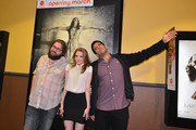 """Director Ed Gass-Donnelly, actress Ashley Bell and producer Eli Roth attend a special screening of CBS Films' """"The Last Exorcism Part II"""" at AMC 16 on February 28, 2013 in Burbank, California."""