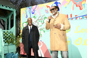 """Henry Butler and City Councilman Robert Cornegy speak during """"The Last O.G. Season 2"""" Garden Party For Good at the Hattie Carthan Community Garden in Brooklyn on March 28, 2019 in New York City. 547100"""