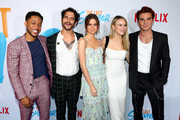 Jacob Lattimore, Tyler Posey, Maia Mitchell, Halston Sage and KJ Apa attend a special screening of Netflix's 'The Last Summer' at the TCL Chinese Theatre on April 29, 2019 in Los Angeles, California.