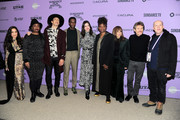 Jené, Tamar-kali, Stewart Cantrell, Edi Gathegi, Anne Hathaway, Dee Rees, Rosie Perez, Willem Dafoe, and Cassian Elwes attend the Netflix The Last Thing He Wanted Premiere at Eccles Center Theatre on January 27, 2020 in Park City, Utah.