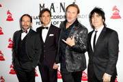 (L-R) Sergio Vallin, Juan Calleros, Fher Olvera and Alex Gonzalez of Mana attend the Latin Recording Academy's 2018 Person of the Year gala honoring Mana at the Mandalay Bay Events Center on November 14, 2018 in Las Vegas, Nevada.