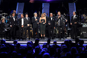 Honorees Juan Calleros, Fher Olvera, Alex Gonzalez, and Sergio Vallin of Mana accept awards onstage with Latin Recording Academy President/CEO Gabriel Abaroa and The Recording Academy President Neil Portnow at the Latin Recording Academy's 2018 Person of the Year gala honoring Mana at the Mandalay Bay Events Center on November 14, 2018 in Las Vegas, Nevada.