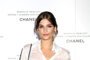 Alma Jodorowsky attends the launch of Lucia Pica's Chanel Spring-Summer 2018 Make up Collection on October 12, 2017 in Naples, Italy.
