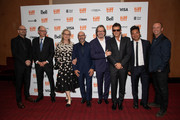 Steven Soderbergh, Jake Bernstein, Meryl Streep, Scott Z. Burns, Gary Oldman, Antonio Banderas, Lawrence Grey and  attend the North American Premiere of 'The Laundromat' at the The Princess of Wales Theatre on September 09, 2019 in Toronto, Canada.