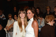 Cristina Parodi (R) and her daughter attend the Laura Biagiotti show as part of Milan Fashion Week Womenswear Autumn/Winter 2014 on February 23, 2014 in Milan, Italy.