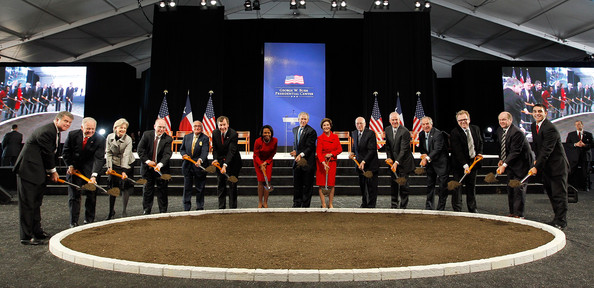 George And Laura Bush Attend Groundbreaking For Bush Presidential Center