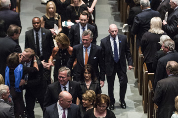 Laura Bush Mourners, Including Former Presidents, Attend Funeral For Barbara Bush