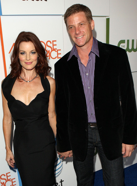 Laura Leighton with amusing, Husband Doug Savant
