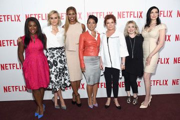 Laura Prepon Laverne Cox Stars Attend the 'Orange Is The New Black' FYC Screening