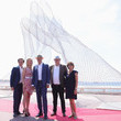 """Laura Restelli Brizard """"Together"""" Monumental Sculpture By Lorenzo Quinn Unveiled At The 74th Annual Cannes Film Festival"""