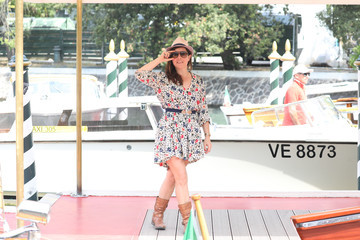 Laure Calamy Celebrity Sightings - Day 11 - The 78th Venice International Film Festival