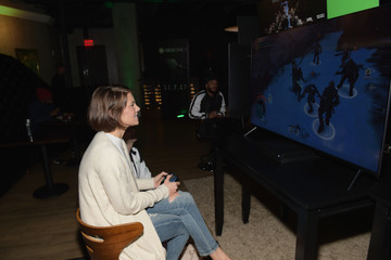 Lauren Cohan Chris Evans, Lauren Cohan, and Lil Jon Host a Celebrity Gaming Event and Xbox Live Session in Atlanta