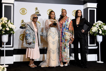 Lauren London Emani Asghedom 62nd Annual GRAMMY Awards - Press Room