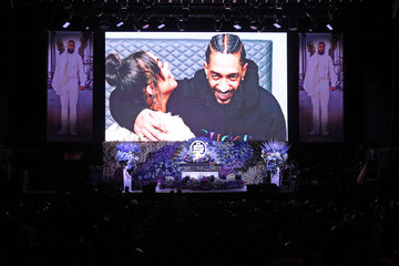 Lauren London Nipsey Hussle Nipsey Hussle's Celebration Of Life - Inside