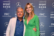 Giacomo Agostini and Serena Autieri attend the Laureus F1 Charity Night on September 5, 2019 in Milan, Italy.