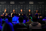 (L-R) Laureus Academy Member Missy Franklin,Kosovare Asllani, Laureus Academy Chairman Sean Fitzpatrick and Arsene Wenger with Laureus Academy Member Nawal El Moutawakel speaks during the Laureus Sport For Good Award Presentation on February 17, 2019 in Monaco, Monaco.