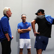 Roger Federer and Bjorn Borg Photos