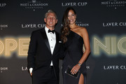 Footballer Bastian Schweinsteiger of Germany and tennis player Ana Ivanovic of Serbia arrive on the Black Carpet during the Laver Cup Gala at the Navy Pier Ballroom on September 20, 2018 in Chicago, Illinois. The Laver Cup consists of six players from Team World competing against their counterparts from Team Europe. John McEnroe will captain Team World and Team Europe will be captained by Bjorn Borg. The event runs from 21-23 Sept.