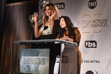 Laverne Cox Awkwafina 25th Annual Screen Actors Guild Awards Nominations Announcement