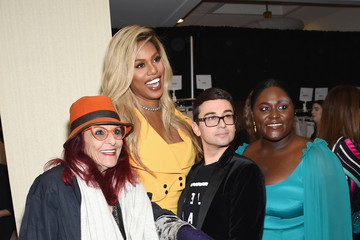 Laverne Cox Danielle Brooks Christian Siriano - Front Row - February 2018 - New York Fashion Week