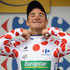Thomas Voeckler Photos - Thomas Voeckler of France and Team Europcar retained his King of the Mountains Polka Dot jersey on the podium after stage eighteen of the 2012 Tour de France from Blagnac to Brive-la-Gaillarde on July 20, 2012 in Brive-la-Gaillarde, France. - Le Tour de France 2012 - Stage Eighteen