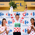 Thomas Voeckler Photos - Thomas Voeckler of France and Team Europcar celebrates on the podium after securing the polka dot jersey for the King of the Mountains competition after stage nineteen of the 2012 Tour de France, a 53.5km time trial from Bonneval to Chartres on July 21, 2012 in Chartres, France. - Le Tour de France 2012 - Stage Nineteen