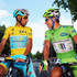 Sir Paul Smith Photos - Race leader Vincenzo Nibali (l) of Italy and the Astana Pro Team chats to Peter Sagan of the Czech Republic and Cannondale at the start of the third stage of the 2014 Tour de France, a 155km stage between Cambridge and London, on July 7, 2014 in Cambridge, England. - Le Tour de France: Stage Three — Part 2