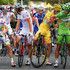 Vincenzo Nibali Peter Sagan Photos - Vincenzo Nibali of Italy and Astana Pro Team helps Peter Sagan of Slovakia and Cannondale (R) with his radio prior to the twenty first stage of the 2014 Tour de France, a 138km stage from Evry into the Champs-Elysees, on July 27, 2014 in Paris, France. - Le Tour de France: Stage 21