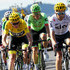 Rigoberto Uran Photos - Christopher Froome of Great Britain riding for Team Sky in the leader's jersey and Rigoberto Uran of Colombia riding for Cannondale Drapac ride in the peloton during stage 15 of the 2017 Le Tour de France, a 189.5km stage from Laissac-Sévérac l'Église to Le-Puy-en-Velay on July 16, 2017 in Le Puy-en-Velay, France. - Le Tour de France 2017 - Stage Fifteen