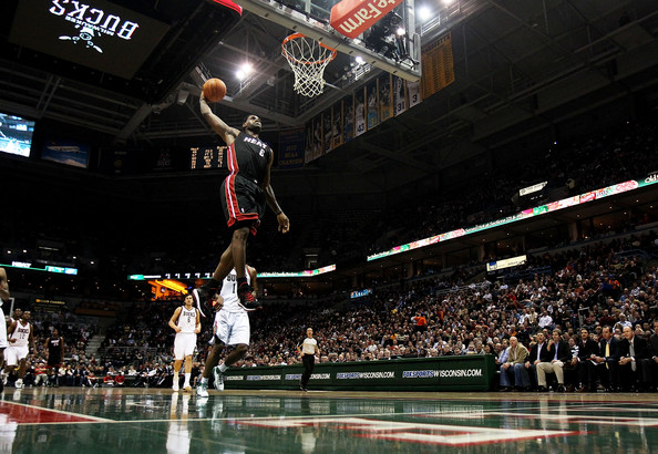 lebron james heat dunk. LeBron James LeBron James #6