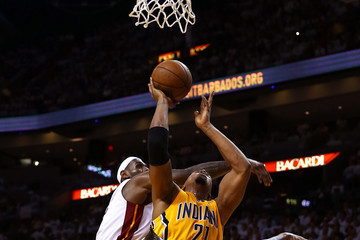 LeBron James Chris Andersen Indiana Pacers v Miami Heat