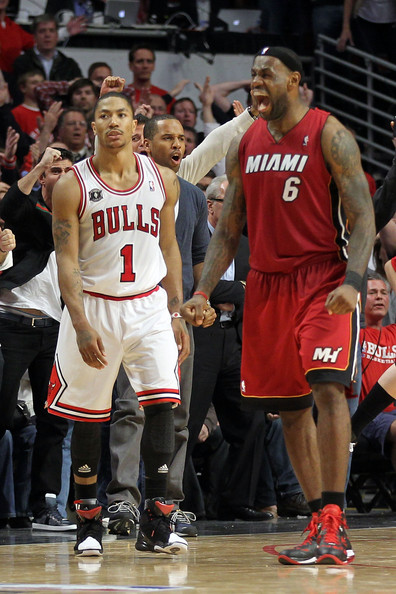 33205673a858 LeBron James and Derrick Rose Photos»Photostream · Pictures · Miami Heat v  Chicago Bulls - Game Five
