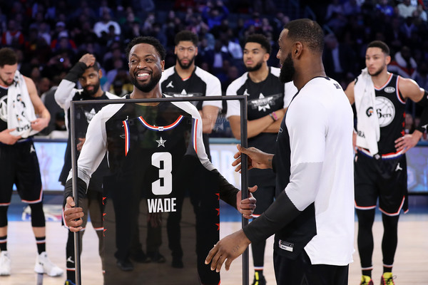 2019 NBA All-Star Game [sports,player,tournament,team sport,ball game,team,championship,sport venue,sports equipment,competition event,jersey,team lebron,lebron james,dwyane wade 3,user,nbae,note,part,team,nba all-star game]
