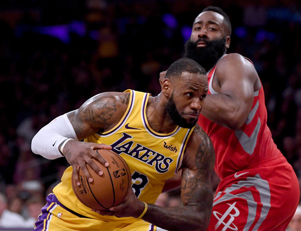 d5afe8c03bbd LeBron James and James Harden Photos»Photostream · Pictures · Houston  Rockets vs. Los Angeles Lakers