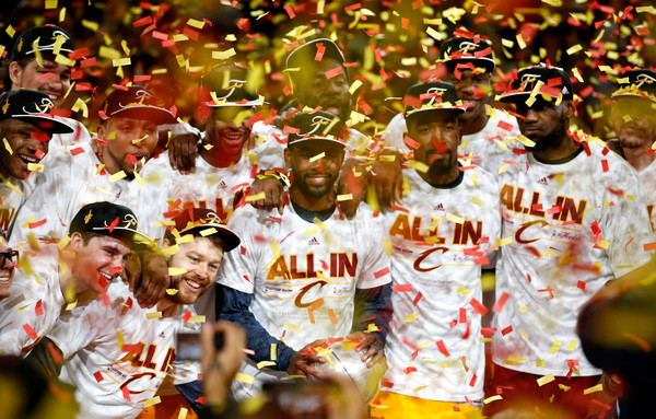 Atlanta Hawks v Cleveland Cavaliers - Game Four [photograph,fan,crowd,team,cheering,event,f\u00eate,festival,carnival,audience,user,user,user,four,note,terms,atlanta hawks,cleveland cavaliers,game four]