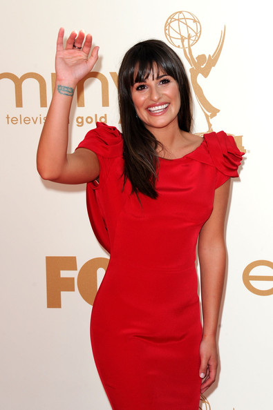 Lea Michele Actress Lea Michele arrives at the 63rd Annual Primetime Emmy Awards held at Nokia Theatre L.A. LIVE on September 18, 2011 in Los Angeles, California.