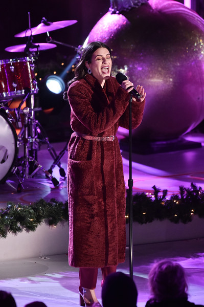 87th Annual Rockefeller Center Christmas Tree Lighting Ceremony [performance,entertainment,performing arts,purple,music artist,concert,musician,stage,music,performance art,new york city,rockefeller center,rockefeller center christmas tree lighting ceremony,lea michele]