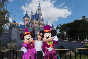 Lea Michele Actress Lea Michele Celebrates Halloween Time At Disneyland Resort
