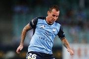 Luke Wilkshire of Sydney FC controls the ball during the round 17 A-League match between Sydney FC and the Central Coast Mariners at Allianz Stadium on January 20, 2018 in Sydney, Australia.