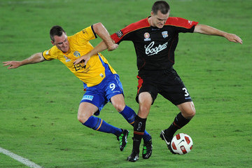 Nigel Boogaard Shane Smeltz A-League Rd 25 - Gold Coast v Adelaide
