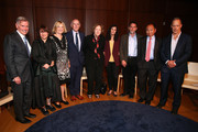 (L-R) Chet Kamin, Mahzarin Banaji, Polly Wiessner, Richard Wrangham, Alison Brooks, Molly Crockett, Joshua Green,  Francis Fukuyama and Sebastian Junger attend Our Tribal Nature: Tribalism, Politics, And Evolution symposia by The Leakey Foundation at The Morgan Library & Museum on September 19, 2019 in New York City.