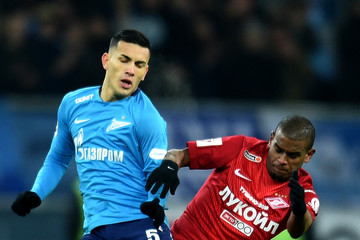 Leandro Paredes FC Spartak Moscow vs 	FC Zenit Saint Petersburg - Russian Premier League
