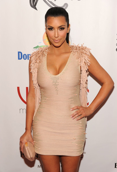 Kim Kardashian Tv Personality Attends The Leather