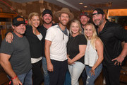 Rob Hatch, Shannan Hatch, Tyler Reeve, Drake White, Haley McLemore, Greg Phelps, Katrina Phelps and Lee Brice are seen backstage at Analog at the Hutton Hotel on October 1, 2018 in Nashville, Tennessee.