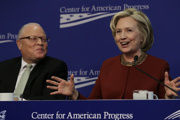Lee Saunders Hillary Clinton Speaks At Event At Center For American Progress