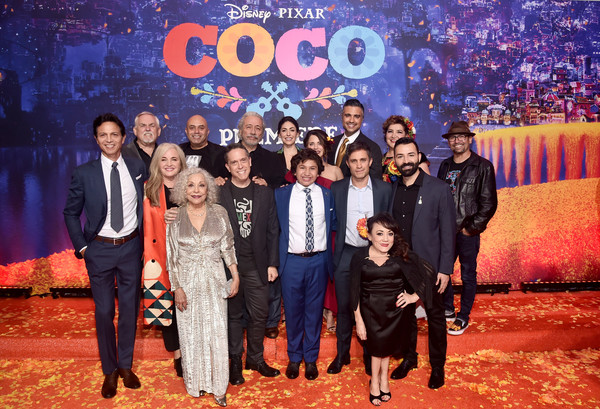 The U.S. Premiere of Disney-Pixar's 'Coco' [event,youth,performance,talent show,team,musical,stage,coco,renee victor,darla k. anderson,edward james olmos,lee unkrich,l-r,u.s.,disney,pixar,premiere]
